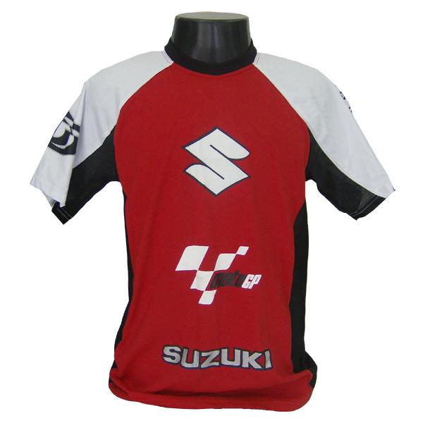 Camiseta Joc Moto GP - Vermelha - Suzuki  - Nova Suzuki Motos e Acessórios