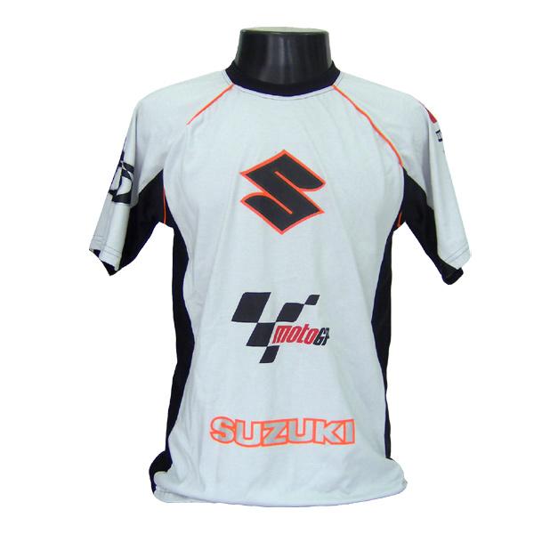 Camiseta Joc Moto GP - Cinza - Suzuki  - Nova Suzuki Motos e Acessórios