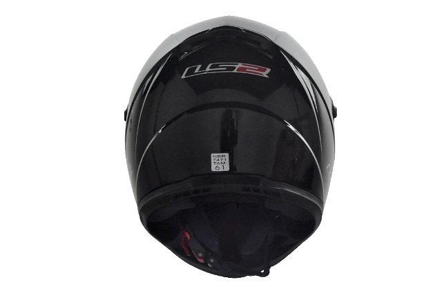 Capacete LS2 FF358 MonoColor Preto Brilhante  - Nova Suzuki Motos e Acessórios