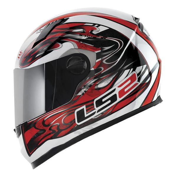 Capacete LS2 FF358 Burn Vermelho  - Nova Suzuki Motos e Acessórios