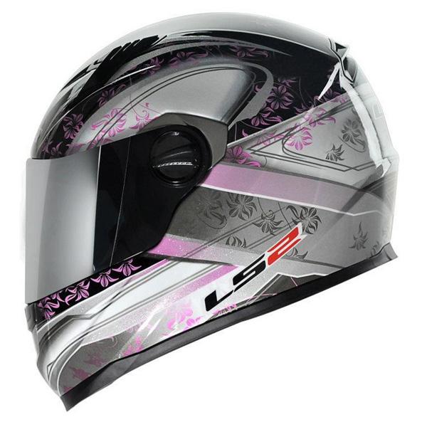 Capacete LS2 FF358 Ginger Rosa - Feminino  - Nova Suzuki Motos e Acessórios