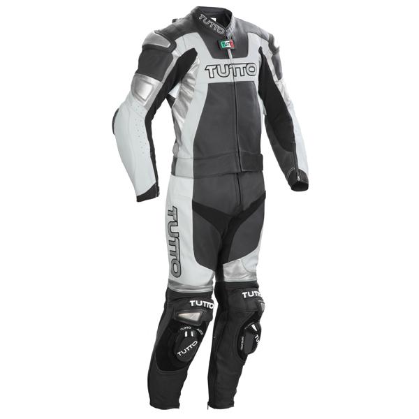 Macacão Tutto Moto Titanium Preto c/ Prata - 2 peças (Racing) Só 58  - Nova Suzuki Motos e Acessórios