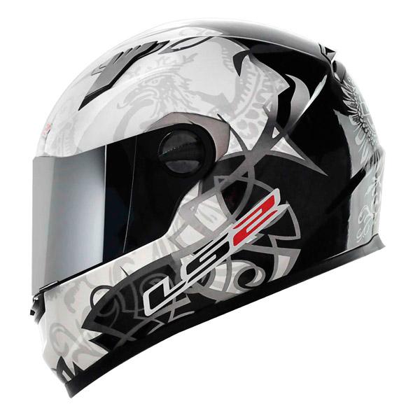 Capacete LS2 FF358 Black and White (+ Vendido)  - Nova Suzuki Motos e Acessórios