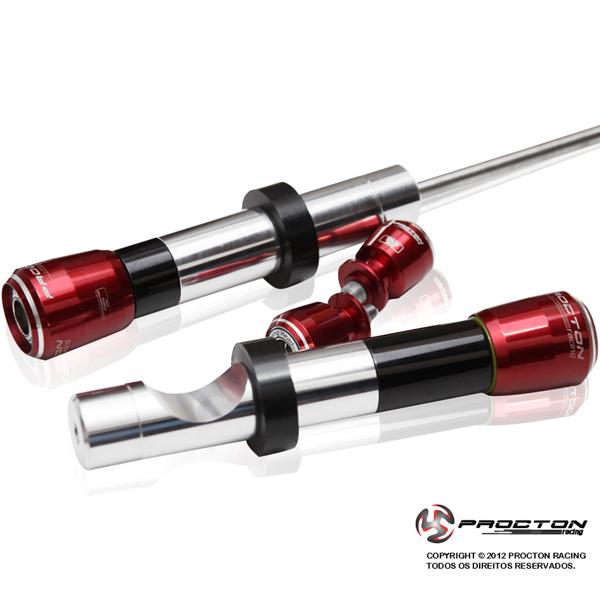 Slider Dianteiro Procton  com Amortecimento Bandit 650/1250 08-16  - Nova Suzuki Motos e Acessórios