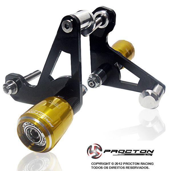 Slider Dianteiro Procton  com Amortecimento GSX R750 (07-13)  - Nova Suzuki Motos e Acessórios