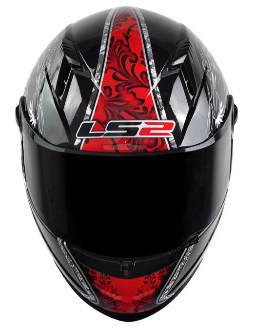 Capacete LS2 FF358 Dragon - Preto c/ Verm. (Só 56)  - Nova Suzuki Motos e Acessórios