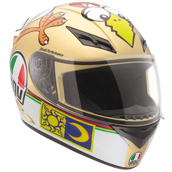 Capacete AGV K-3 Chiken Réplica Oficial Valentino Rossi  - Nova Suzuki Motos e Acessórios