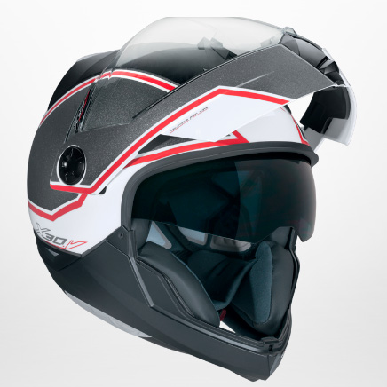 2045a919b146f Capacete Nexx X30 Viper Branco Vermelho Escamoteável - Ganhe Camiseta -  Nova Suzuki Motos e ...