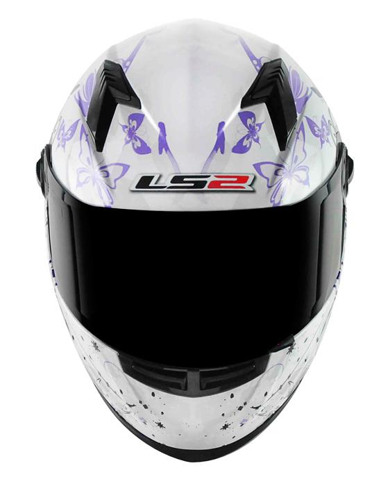 Capacete LS2 FF358 Floral Purple Feminino  - Nova Suzuki Motos e Acessórios
