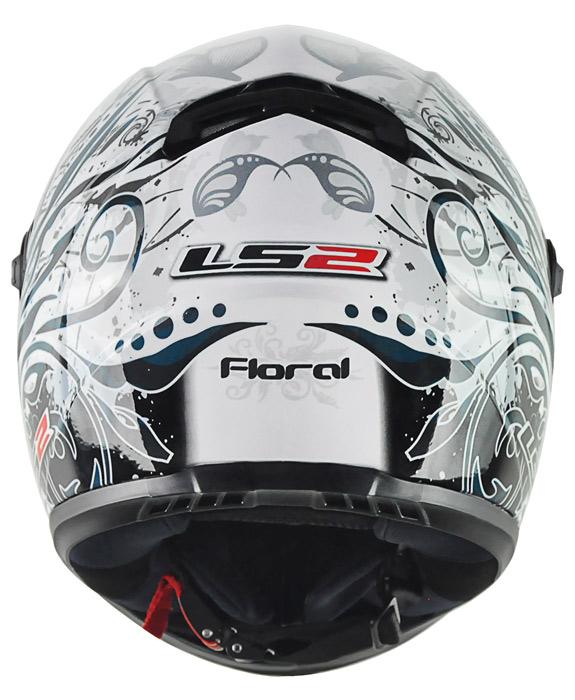 Capacete LS2 FF358 Floral cinza Feminino  - Nova Suzuki Motos e Acessórios