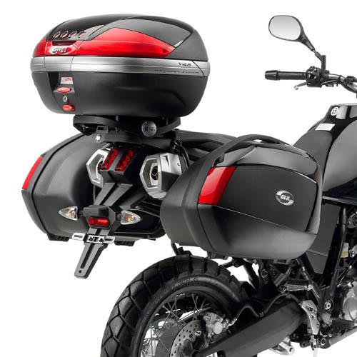 Suporte bau traseiro Givi E333 (acompanha Base M5) Tenere 660 Z - P/ Baús Importados - Pronta Entrega  - Nova Suzuki Motos e Acessórios
