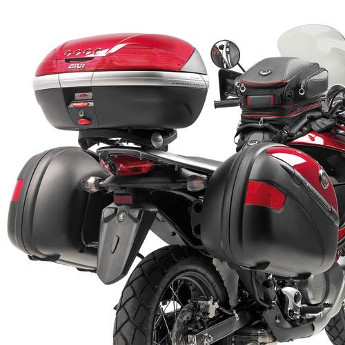 Suporte Lateral PL203 p/ baú Givi Honda Transalp XL700 (Baús 21/41 e Trekker)  - Nova Suzuki Motos e Acessórios