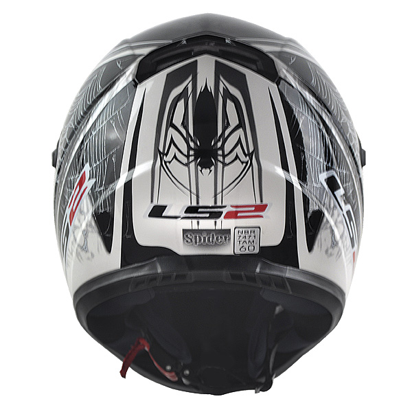Capacete LS2 FF358 Spider - Prata  - Nova Suzuki Motos e Acessórios