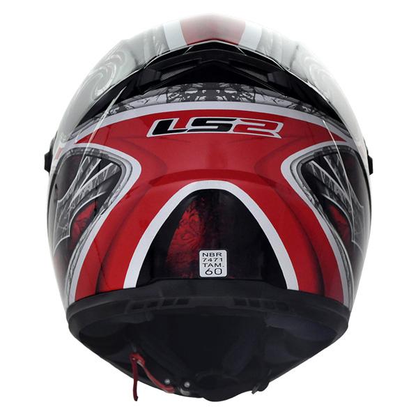 Capacete LS2 FF358 Scorpion Vermelho  - Nova Suzuki Motos e Acessórios