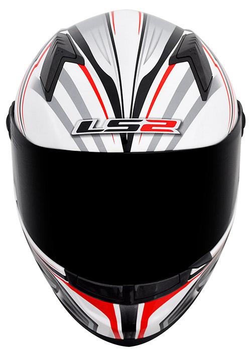 Capacete LS2 FF358 Wings Vermelho (só tamanho 54)  - Nova Suzuki Motos e Acessórios