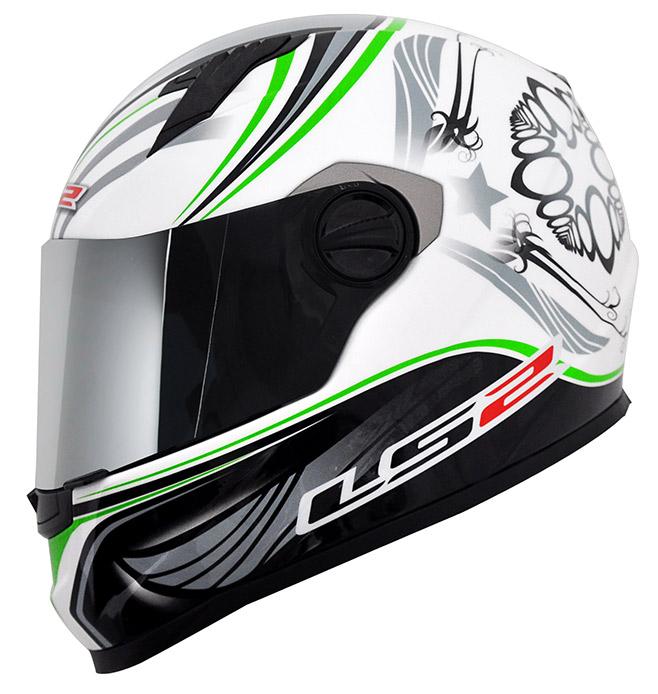 Capacete LS2 FF358 Wings Verde  - Nova Suzuki Motos e Acessórios