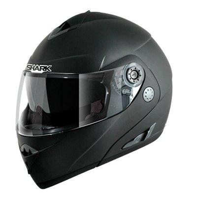 Capacete Shark Openline Prime Matt BKM c/ Pinlock (escamoteável)  - Nova Suzuki Motos e Acessórios