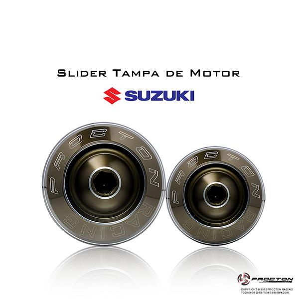 Slider Tampa de Motor Procton p/ Suzuki / Honda / Kawa  - Nova Suzuki Motos e Acessórios