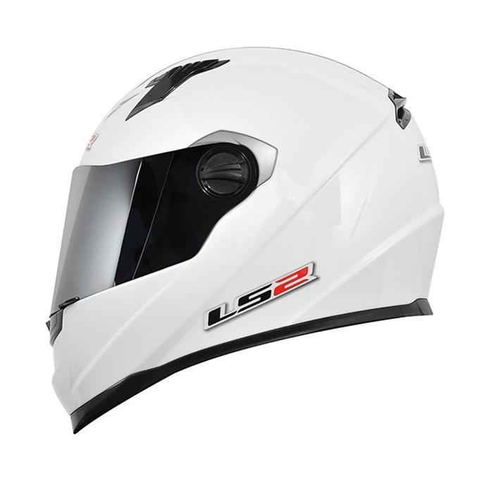 Capacete LS2 FF358 MonoColor White  - Nova Suzuki Motos e Acessórios