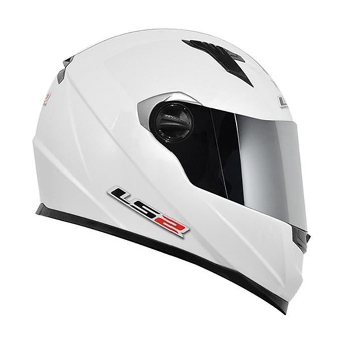 Capacete LS2 FF358 MonoColor Branco   - Nova Suzuki Motos e Acessórios