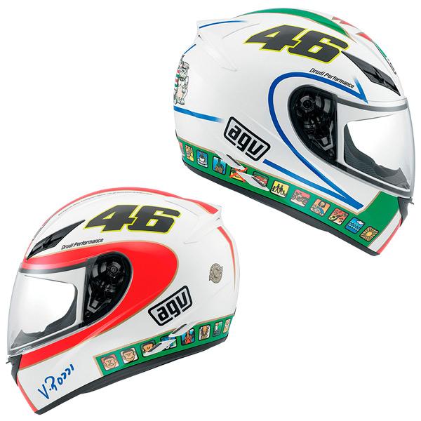 Capacete AGV K-3 Icon Valentino Rossi  - Nova Suzuki Motos e Acessórios