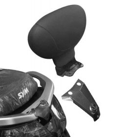 Encosto Givi TB231 p/ Dafra Citycom - Pronta Entrega  - Nova Suzuki Motos e Acessórios