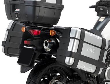 Suporte Lateral PL3101 para baú Givi 21/41/e360/trekker - V-Strom 650 L2 (12 à 17) - Pronta entrega  - Nova Suzuki Motos e Acessórios