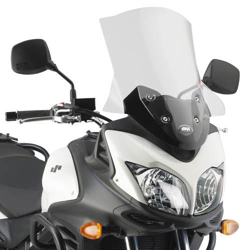 Parabrisa Givi alto 3101DT p/ V-Strom 2014 (Com kit fixação)  - Nova Suzuki Motos e Acessórios