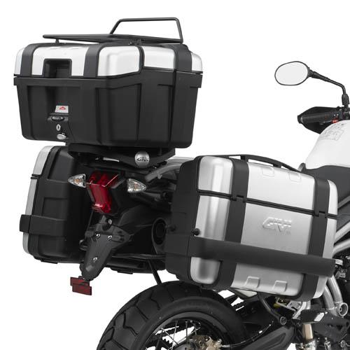 Rack/Suporte traseiro GIVI SR6401 p/ Tiger 800 / XC/ XR 11à 17 (Baús Import. V46/V47/E52/E55/TREKKER) - Pronta Entrega  - Nova Suzuki Motos e Acessórios