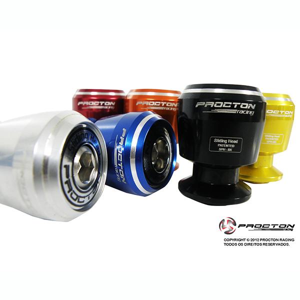 Slider de Balança Traseiro M8 Procton p/ BMW (c/ espaçador)  - Nova Suzuki Motos e Acessórios