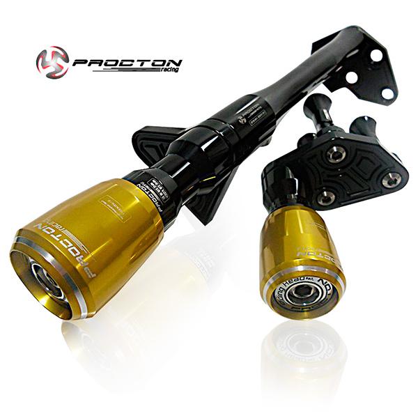 Slider Dianteiro Procton com Amortecimento p/ ER6N 13/16 - Aluminium Support  - Nova Suzuki Motos e Acessórios