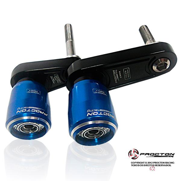 Slider Dianteiro Procton com Amortecimento p/ R1 09/14 - Aluminium SUPPORT  - Nova Suzuki Motos e Acessórios