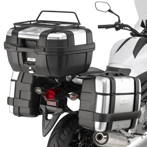 Suporte lateral Givi PL1111 p/ Honda NC700X (E21 e E22/E41/E360/TREKKER) - Pronta Entrega  - Nova Suzuki Motos e Acessórios