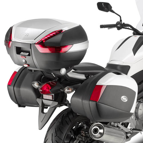 Suporte lateral Givi PLX1111 p/ Honda NC700X p/ Baú V35  - Nova Suzuki Motos e Acessórios