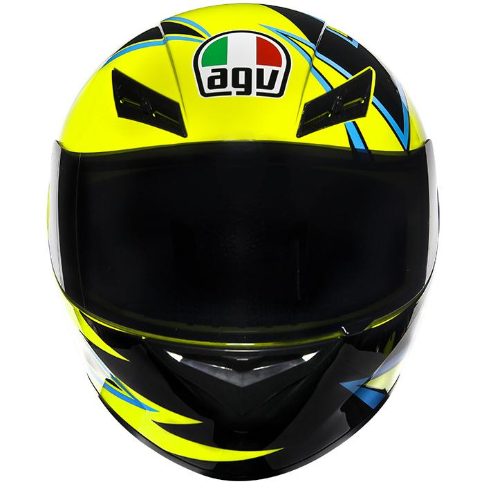 Capacete AGV K-3 Winter Test Réplica Oficial Valentino Rossi (Só 60 e 62)   - Nova Suzuki Motos e Acessórios