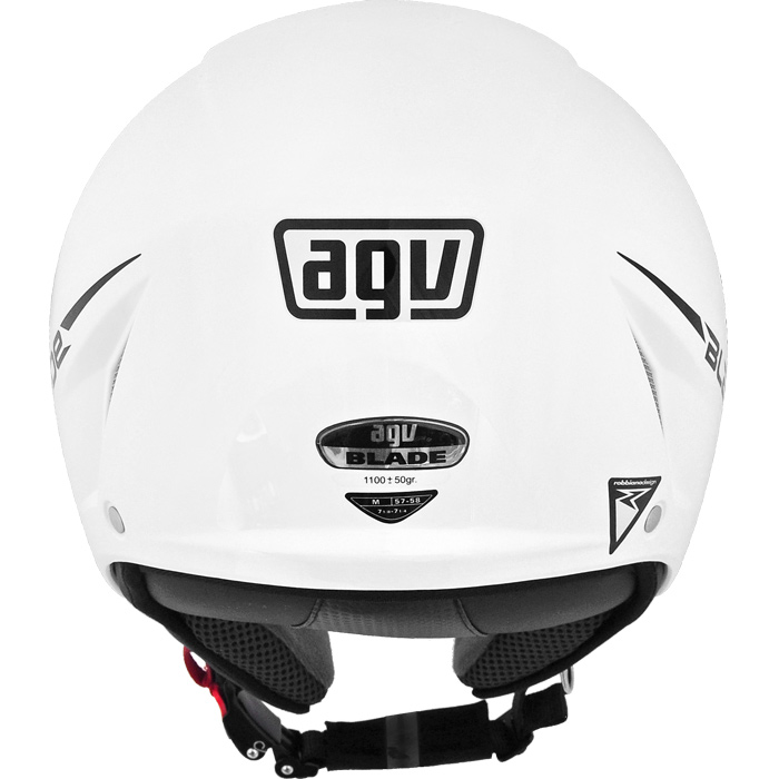 Capacete AGV Blade Mono White (Brilhante) - Só 54/PP - Infantil - Aberto  - Nova Suzuki Motos e Acessórios