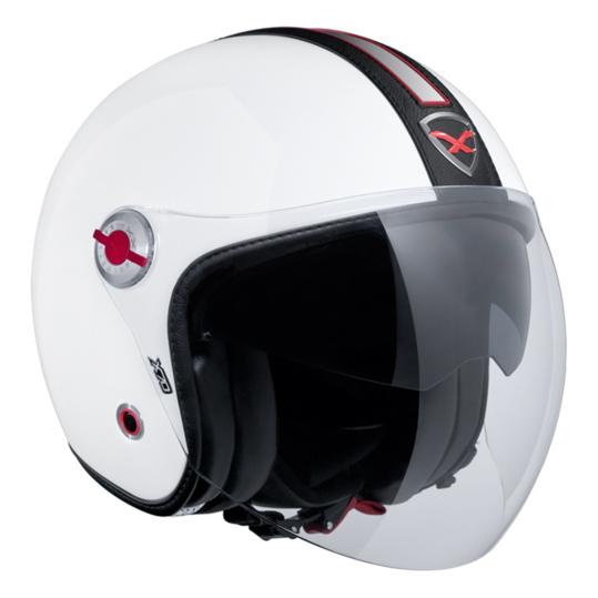 Capacete Nexx X70 Groovy Branco c/ Preto Tri-Composto - Aberto  - Nova Suzuki Motos e Acessórios