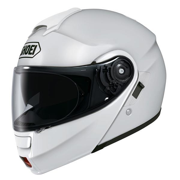 Capacete Shoei Neotec Branco Escamoteável  - Nova Suzuki Motos e Acessórios