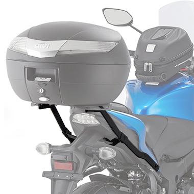 Base/Monorack de baú Givi 3110FZ p/ Suzuki GSX S1000/F 2015-2017   - Nova Suzuki Motos e Acessórios