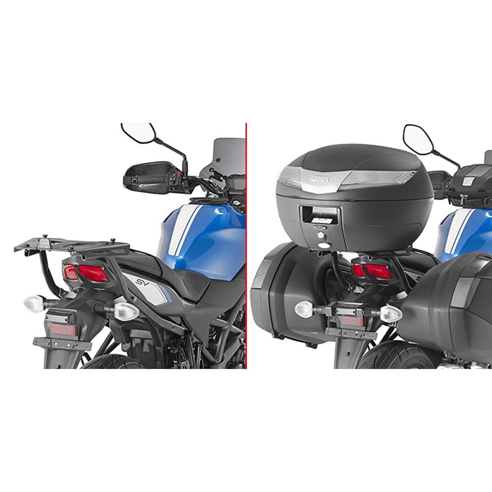 Base/Monorack de baú Givi 3111FZ p/ Suzuki SV650 + Base (M5 Monokey e M5M Monolock)  - Nova Suzuki Motos e Acessórios
