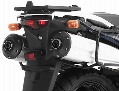 Base para baú Givi E528M (baús nacionais E450/E470) DL1000 / DL650 - Pronta Entrega  - Nova Suzuki Motos e Acessórios