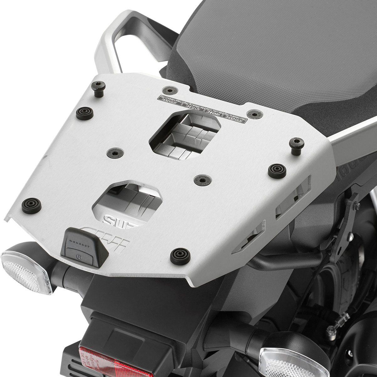 Base/Rack de baú Monokey Givi SRA3112 para DL1000/DL650 2017 (Baús Importados)  - Pronta Entrega  - Nova Suzuki Motos e Acessórios