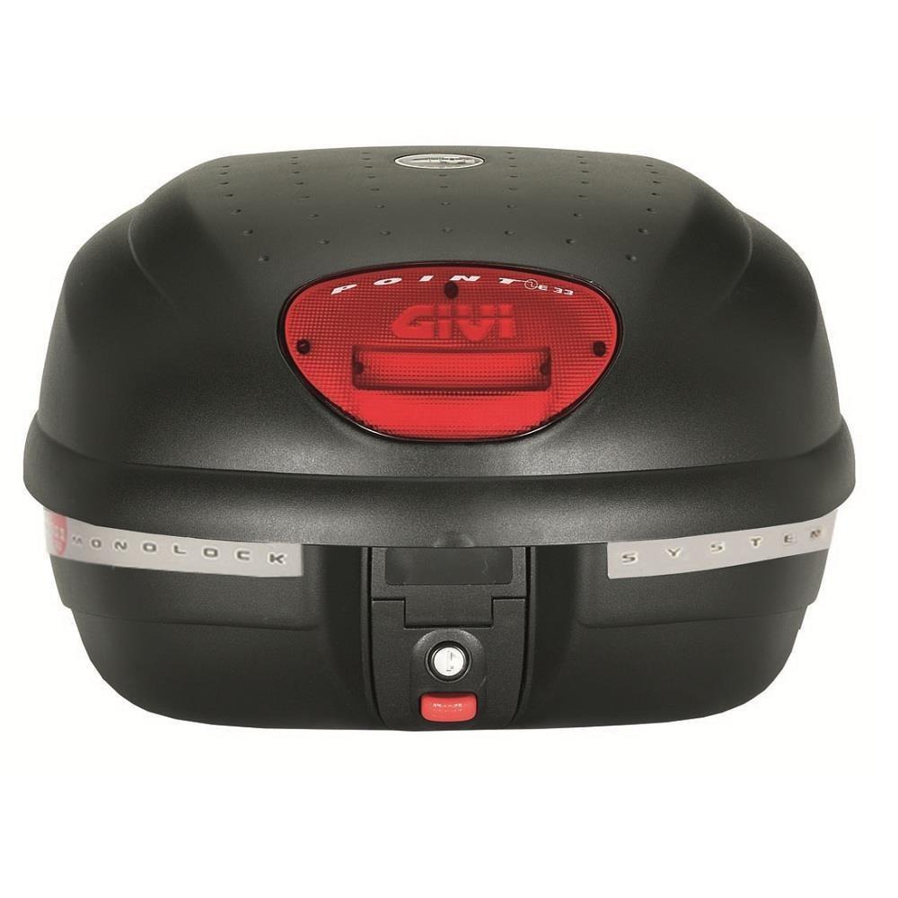 Baú Givi E33 litros Point lente Vermelha  - Nova Suzuki Motos e Acessórios
