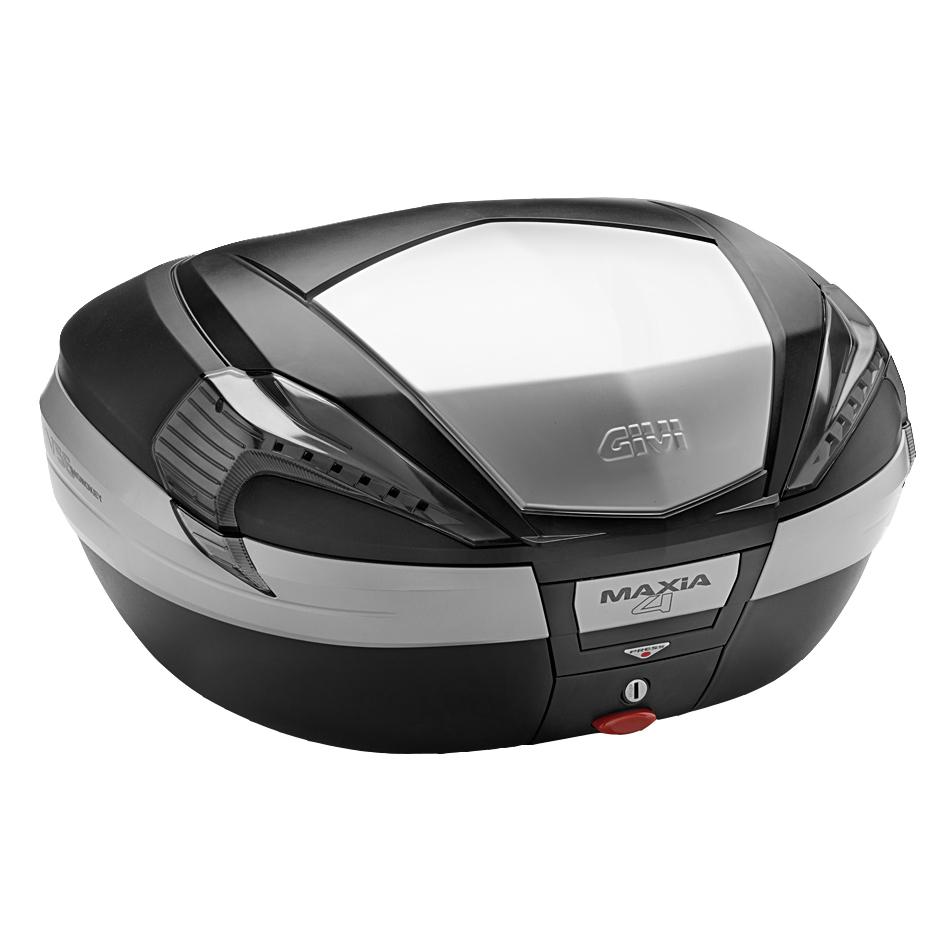 Baú Givi V56 Maxia 4 Tampa Prata Fumê - NOVO!  - Nova Suzuki Motos e Acessórios