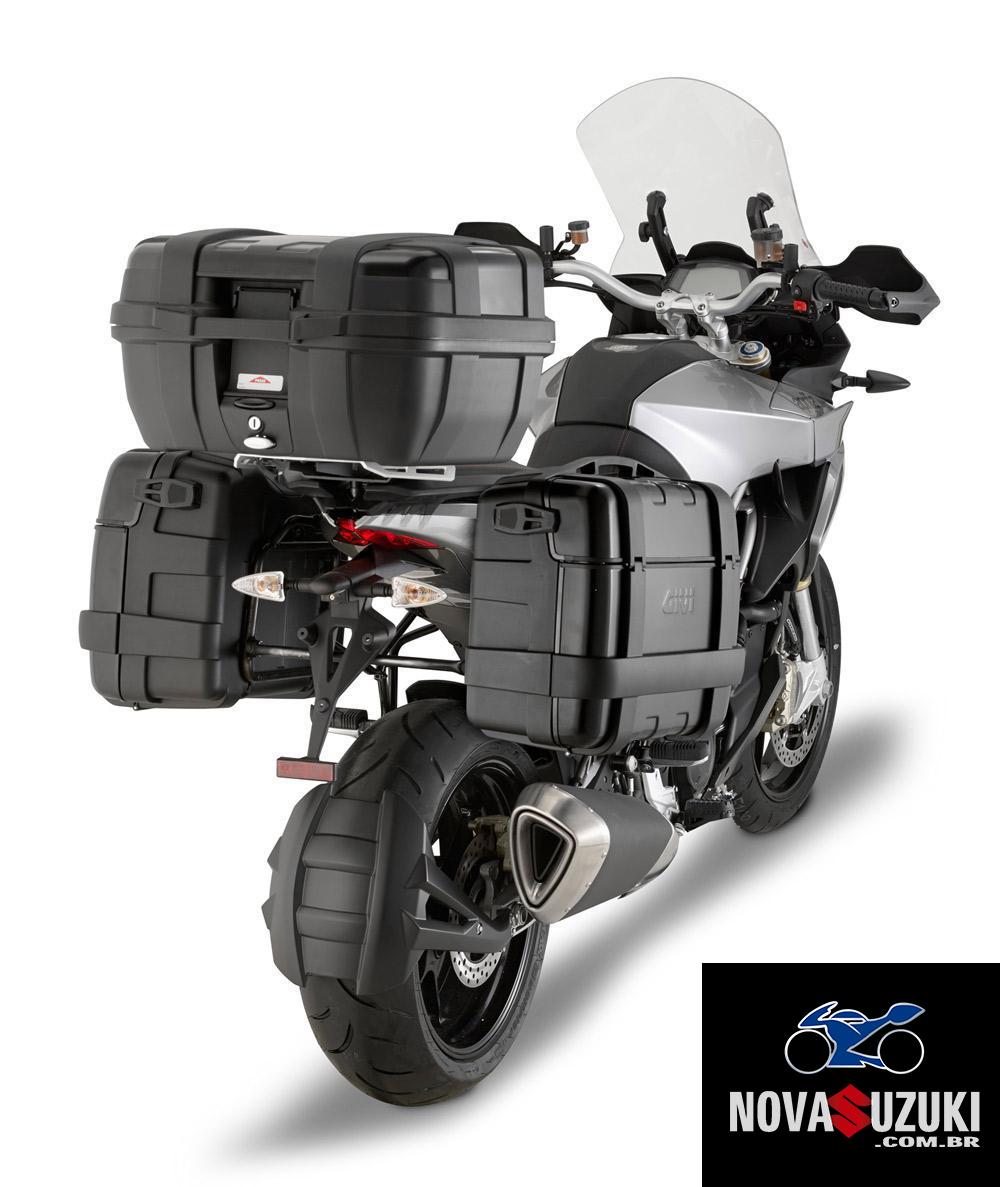 Baú Givi TREKKER ALUMINUM Black 46 LITROS Traseiro  - Nova Suzuki Motos e Acessórios
