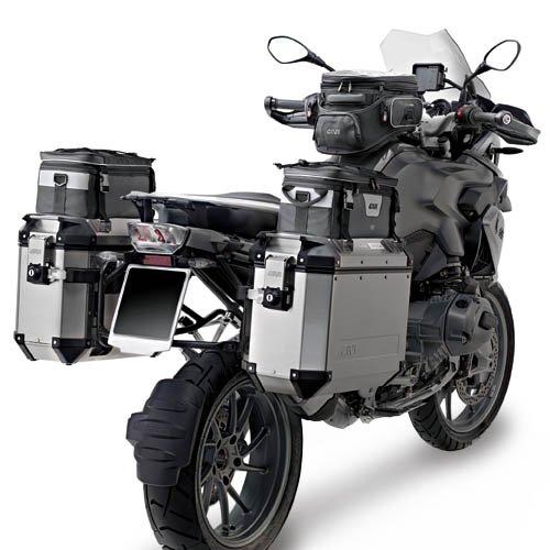 Baú Givi Trekker OUTBACK 48L Lateral Preto (O PAR)  - Nova Suzuki Motos e Acessórios