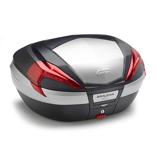 Baú Givi V56 Maxia 4Tampa Prata Vermelho - NOVO!  - Nova Suzuki Motos e Acessórios
