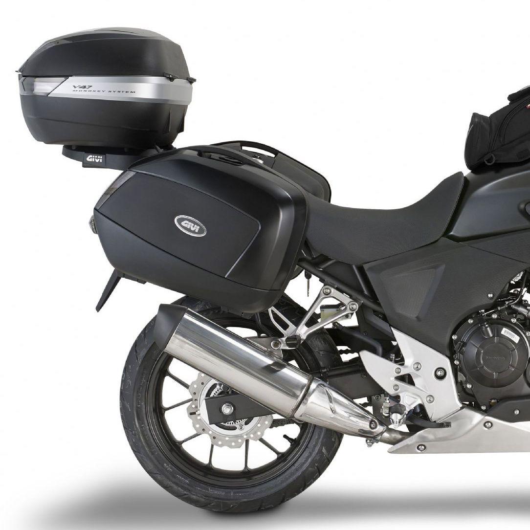 Baú Lateral Givi V35 Lente Fumê (O Par) - Pronta Entrega  - Nova Suzuki Motos e Acessórios