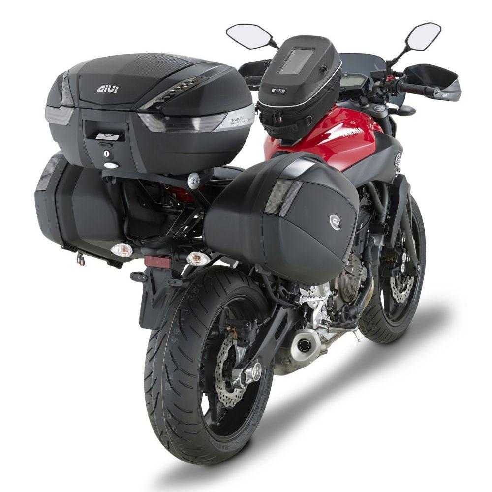 Baú Lateral Givi V35 Tampa Prata (O Par) - Pronta Entrega  - Nova Suzuki Motos e Acessórios