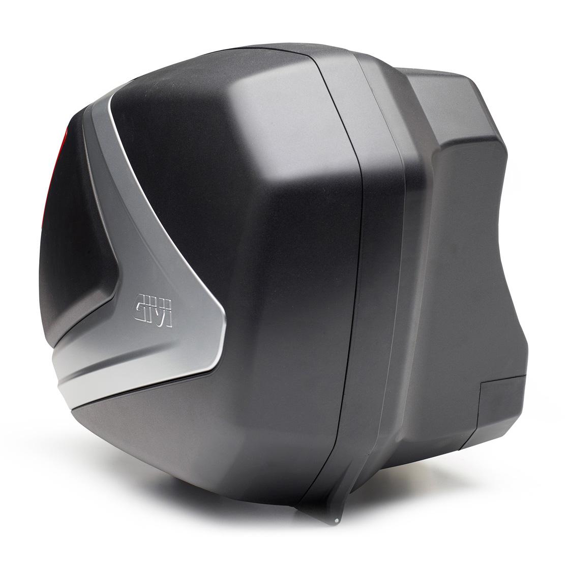 Baú Lateral Givi V37NT Fumê (O Par 37 litros) tampa prateada - Pronta Entrega  - Nova Suzuki Motos e Acessórios